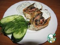 Рулет с колбасой и грибами ингредиенты