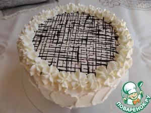 Рецепт Торт с шоколадным муссом, фруктовым желе и кремом из маскарпоне