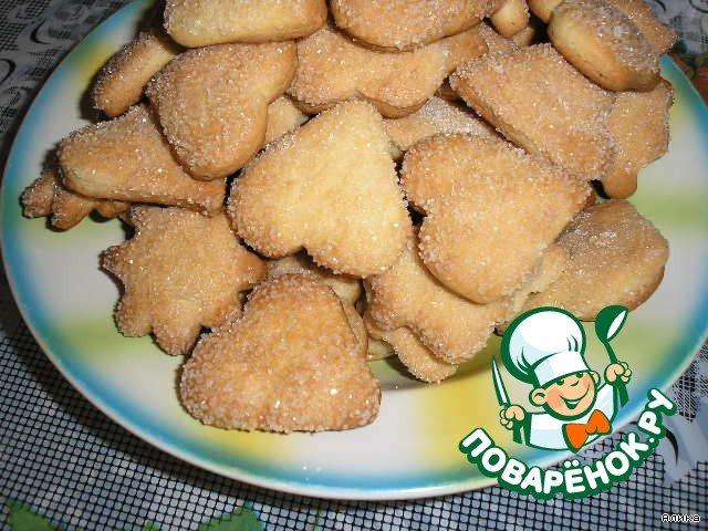 Печенье песочное домашнее рецепт на сметане