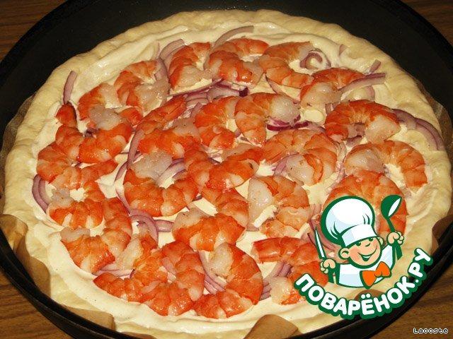 пицца на белом соусе рецепт