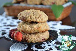 Рецепт Овсяное печенье с клубникой