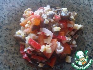 Рецепт Грибной салат (диета Дюкана/чередование)