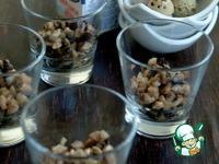 Закуска из грибов в сливочном соусе с перепелиными яйцами ингредиенты