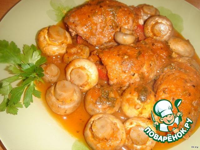 крученики з грибами рецепт с фото