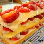 Клубнично-лимонный йогуртовый десерт