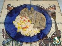 Печень в соусе с рисом по-мексикански - кулинарный рецепт