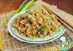 Рецепт Кисло-сладкий рис с беконом