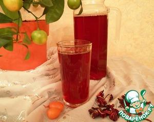 Рецепт Холодный чай «Каркаде с кумкватом и имбирем»