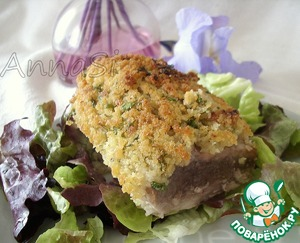 Рецепт Запеченная свиная вырезка под хлебной корочкой