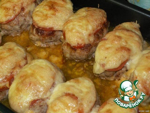 Котлеты из фарша в духовке с сыром рецепт с пошагово в духовке