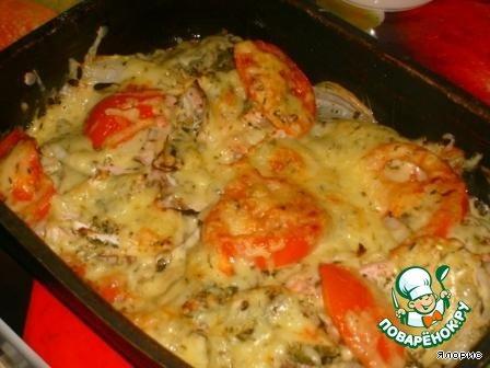 рецепт рыбы в духовке с томатом
