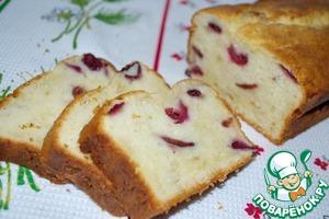 Рецепт Творожный кекс с вишней (черешней)