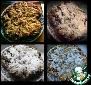 Рецепт Яблочный пирог с овсянкой