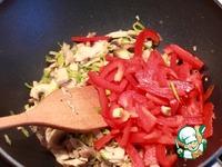 Стир-фрай из курицы с грибами и сладким перцем ингредиенты