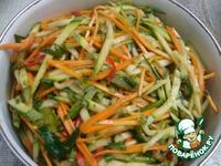 Салат из сырого кабачка по-корейски ингредиенты