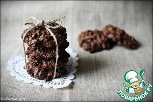 Рецепт Шоколадно-овсяное печенье (без муки)
