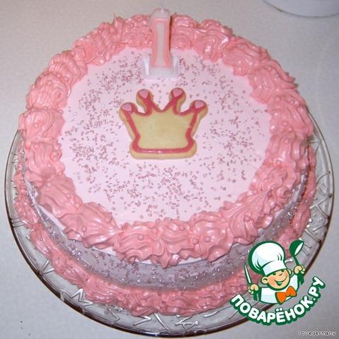 Белковый торт для девочки