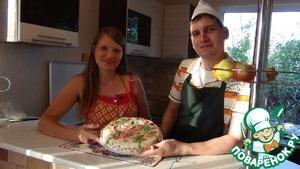Рецепт Домашний торт с фруктовым суфле