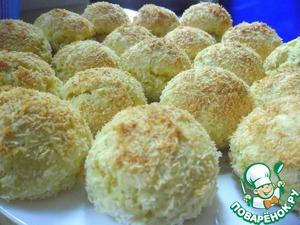 Рецепт Турецкое курабье с кокосом (Hindistan Cevizli Kurabiye)