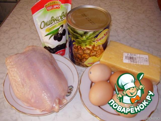 Салат с курицей, Курица с ананасами, рецепты с фото на ...