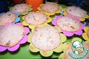 Рецепт Кексы с изюмом и орехами