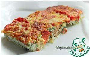 Рецепт Красная рыба, запеченная под овощной шубой