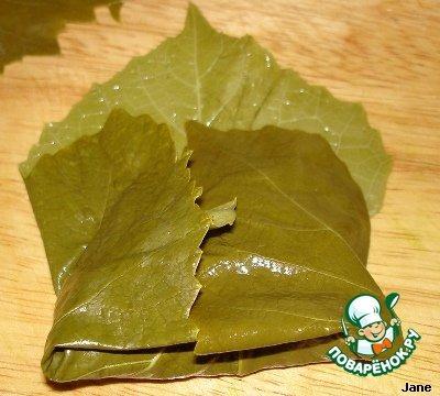Рецепт с фотографиями Мясо в виноградных листьях #10