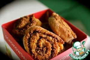 Рецепт Карамельное печенье с ореховым пралине