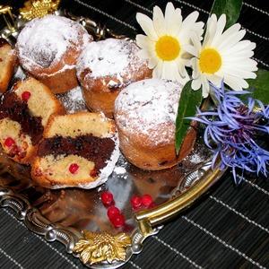 Рецепт Кексы с шоколадом и брусникой