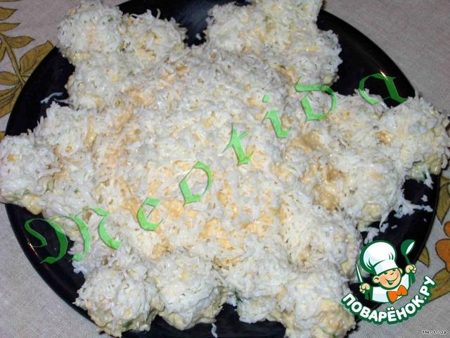 Салат снежинка рецепт с курицей