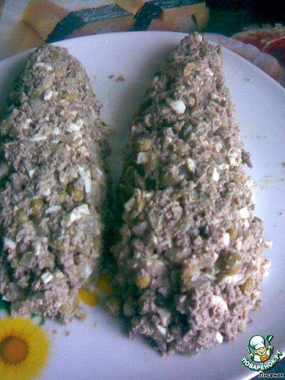 Фоторецепт салат початок кукурузы