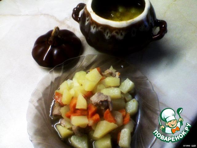 Жаркое из индейки с овощами в горшочке вкусный рецепт с фото как готовить #3