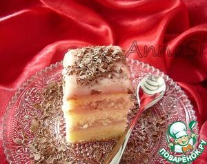 Рецепт Пирожные с бисквитом женуаз и клубничным курдом