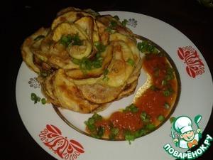 Рецепт Жареные кабачки с помидорным соусом