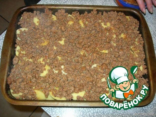 Картофельная запеканка с фаршем рецепт с фотографиями пошагово как готовить #7