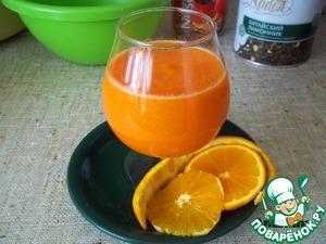 Рецепт Напиток морковно-апельсиновый