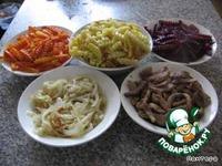 """Салат """"Чафан"""" ингредиенты"""
