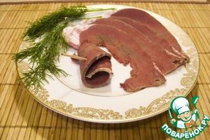 Рецепт Сердце говяжье солёно-варёное