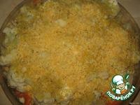 Запечeнная цветная капуста с шампиньонами, под сырной корочкой ингредиенты