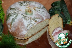 Рецепт Хлеб с творогом и укропом