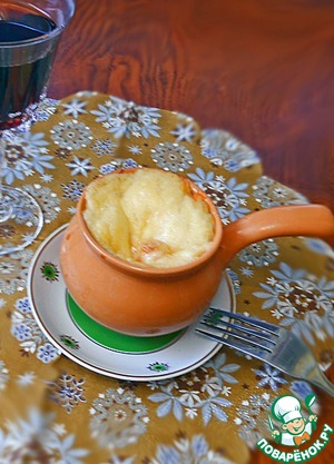Рецепт Каннеллони под сырной шапочкой в кокотницах