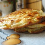 Ржаные сырно-кабачковые оладьи из духовки