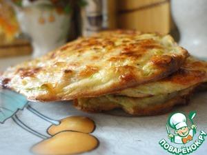 Рецепт Ржаные сырно-кабачковые оладьи из духовки