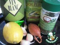Мидии, запеченные в чесночном маринаде ингредиенты