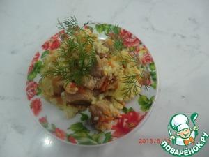 Рецепт Капуста, тушенная с рисом в мультиварке