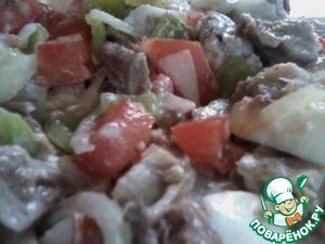 Рецепт Салат с говядиной и помидорами