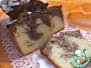 Рецепт Кекс с нутеллой и кокосовым молоком