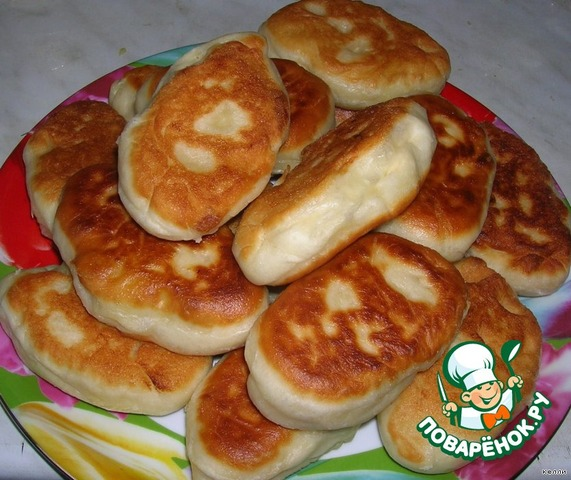 пирожки с рисом и яйцом рецепт жареные на поваренок