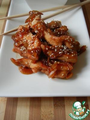 Куриные грудки в соусе терияки рецепт с пошагово