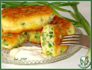 Рецепт Оладьи на кефире с зеленым луком